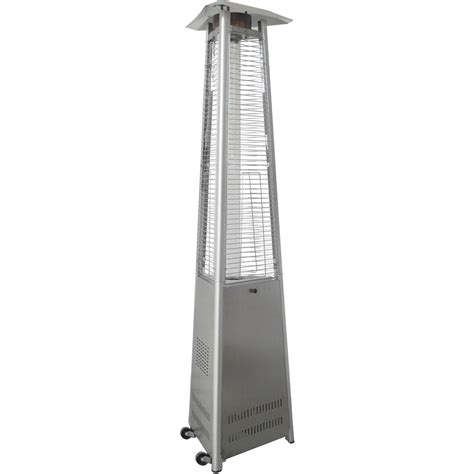 Hanover 7 5 Ft 42 000 Btu Stainless Steel Triangle Stainless Steel Propane Patio Heater