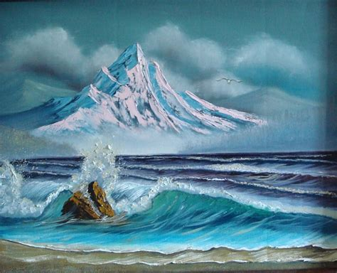 bob ross painting the sea sea paintings by bob image