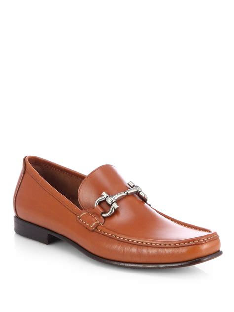 ferragamo loafers ferragamo giordano bit loafers in brown for lyst