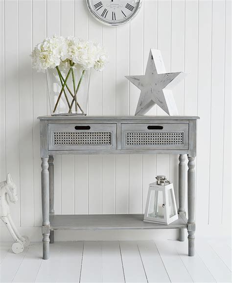 Colonial Furniture Range In Grey Console Table
