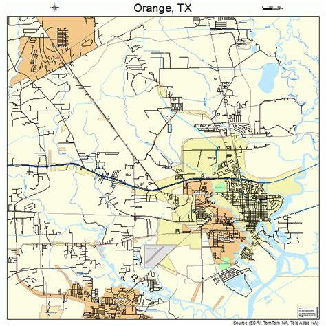 map of orange texas orange texas map 4854132