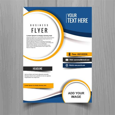 beautiful brochure template vector free download