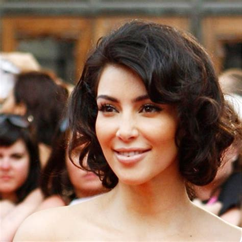 kim kardashian curly bob pictures of curly bob hairstyle by kim kardashian