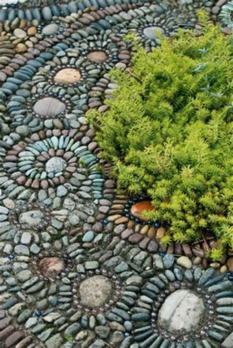 Mosaic Ideas For Garden Beautiful Garden Path Designs And Ideas For Yard Landscaping With Pebbles