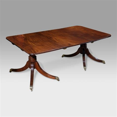 Small Mahogany Dining Table Small Regency Mahogany Twin Pedestal Dining Table Small