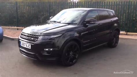 range rover evoque back land rover range rover evoque sd4 dynamic black 2013