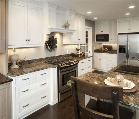 Kitchen Island Accent Color Traditional White Kitchen W Accent Island Traditional
