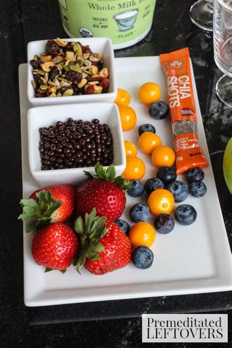fruit and chia fruit chia and trail mix yogurt cup recipe