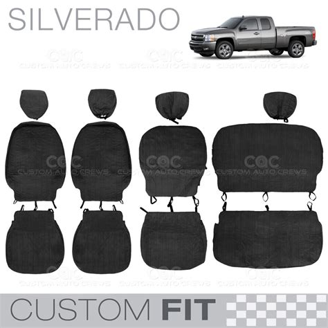 2007 chevy silverado extended cab seat covers custom fit seat covers for chevy silverado 2007 to 2012
