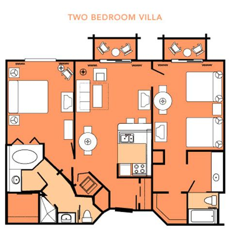 wilderness lodge 2 bedroom villa floor plan dvc floorplans the dis disney discussion forums