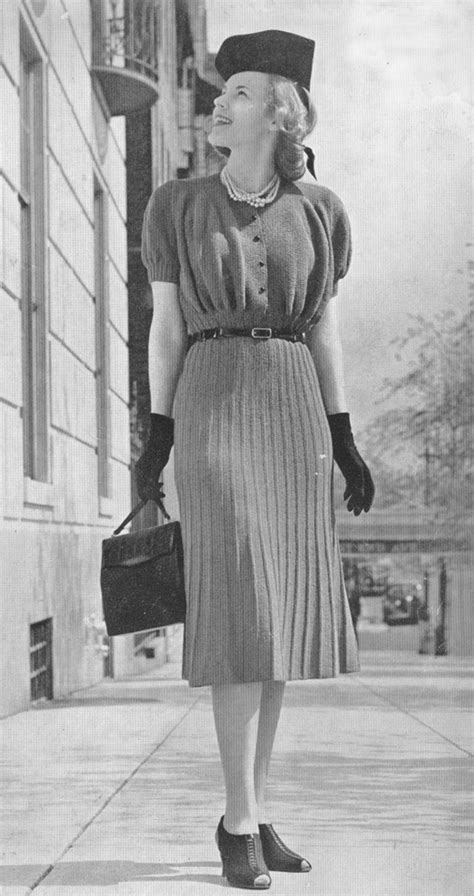 current fashion for midthirties ladies vintage 1930s dress ribbed knitting pattern pdf 3917 30s art
