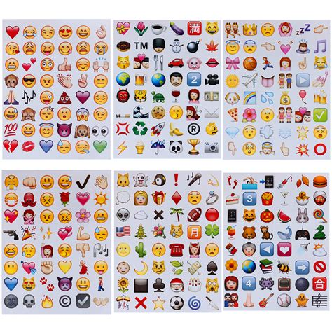 Decorative Cutting Sticker For Mobile Phone Handphone Stiker Lucu 288 die cut emoji smile sticker pack cellphone laptop viny decor stickers ebay