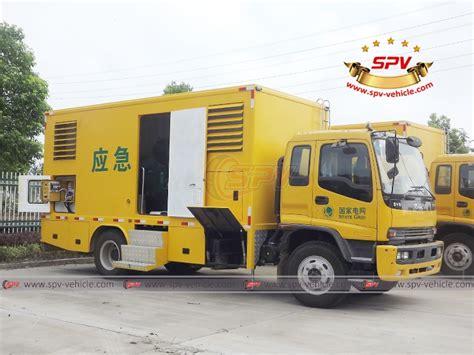 kw service truck 200 kw power service truck truck mounted generator