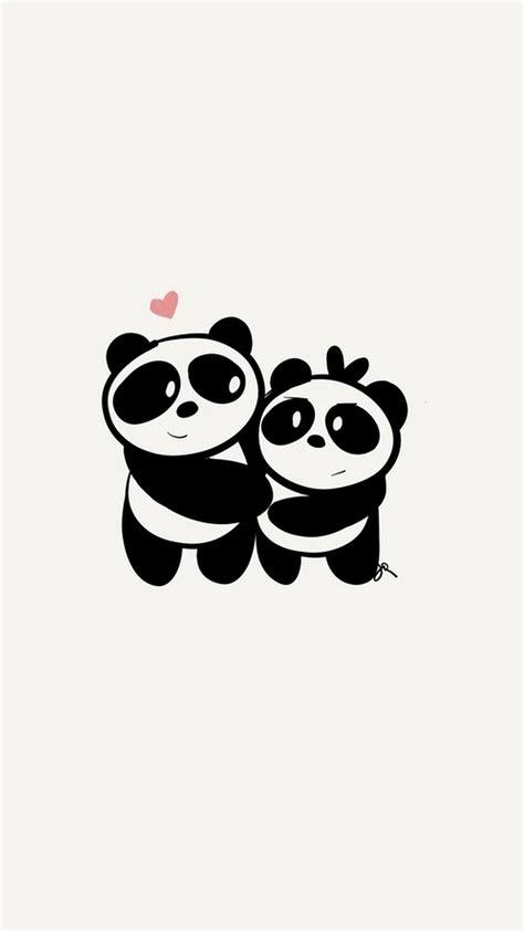 wallpaper black and white panda 2018 download iphone x cute couple panda wallpaper full