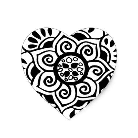 Tribal Sticker Tattoo by Lotus Flower Tribal Tattoo Design Heart Sticker Zazzle
