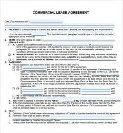 commercial lease agreement 7 free for pdf