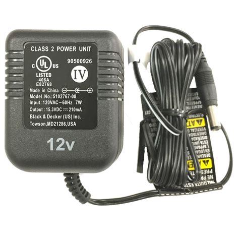 black and decker charger 12v black decker 5102767 08 12v 12 volt nicad battery