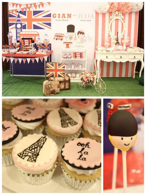 themed birthday parties london kara s party ideas london paris themed birthday party