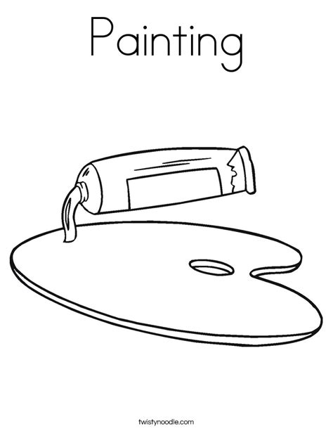 Painting Coloring Page Twisty Noodle Paint Coloring Pages