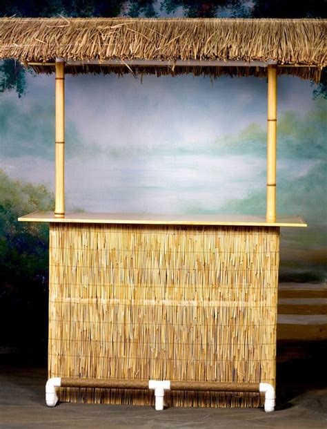 Tiki Bar Hut Assembly Our Basic Portable Tiki Bar Includes A Weaved Palapa Palm