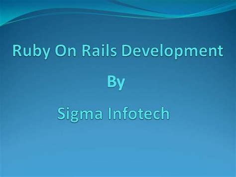 ruby on rails templates ruby on rails development in sydney melbourne authorstream