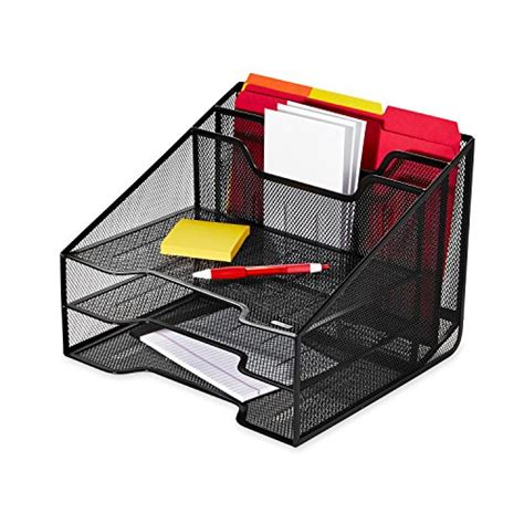 Mesh Collection Sorter Tray Storage Desk Accessories Mesh Desk Accessories