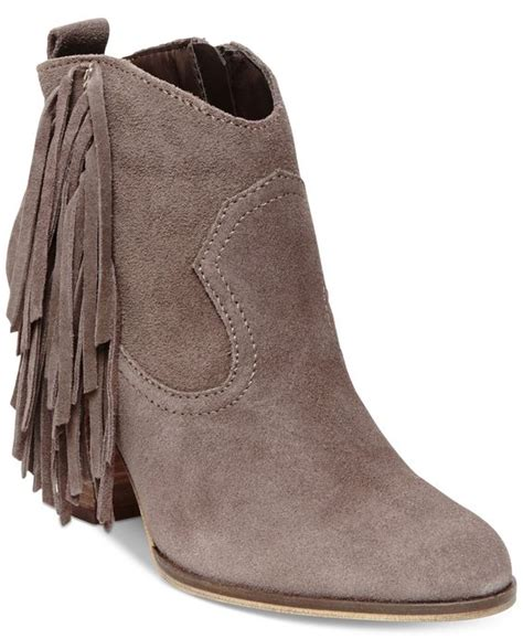 macys steve madden boots steve madden ohio fringe booties boots shoes macy s
