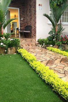 jardin tropical de lujo con sendero senderos pinterest