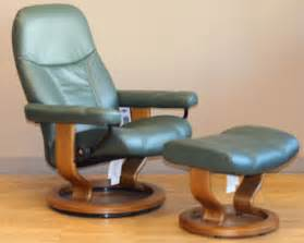Small Green Recliner Stressless Diplomat Small Batick Green Leather By