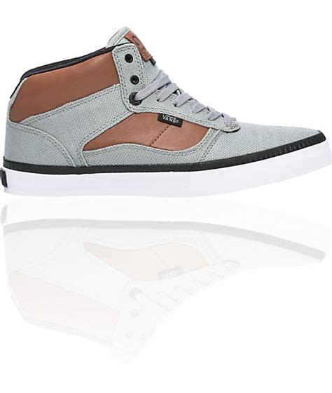 Vans Brownish Grey Shoes vans otw bedford grey brown skate shoes mens at zumiez pdp