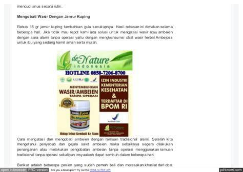 Obat Wasir Ramuan Tradisional obat wasir tradisional dari tumbuhan