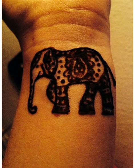 henna elephant tattoos 14 animals wrist tattoos