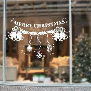 aliexpress com buy 2016 removable white christmas snowflakes bell ornaments window decals wall