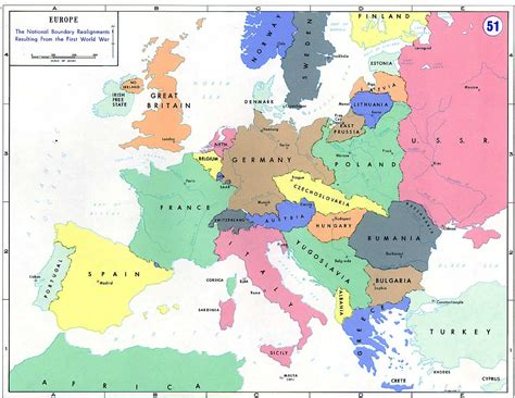 world war 1 map of europe europe after world war 1 map