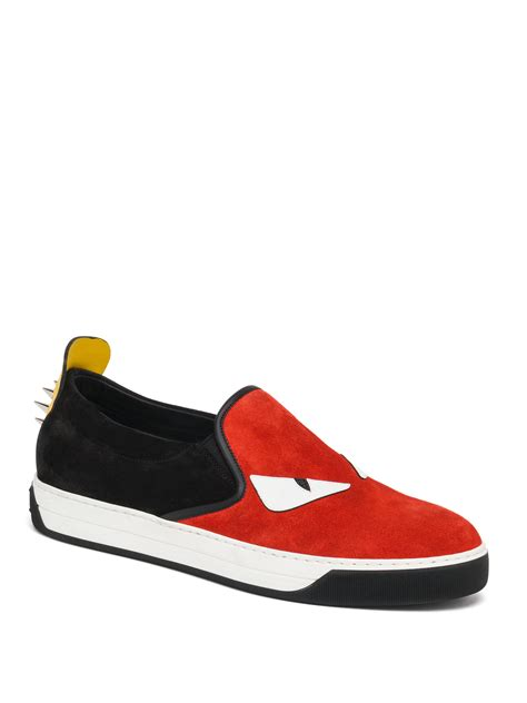 fendi sneakers fendi slip on sneakers in for lyst