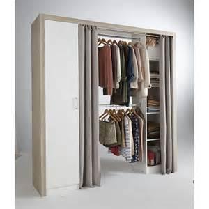 dressing tout en un extensible avec porte et rideaux