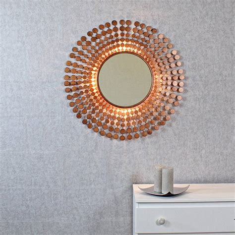 copper wall mirror uk coinbase antique copper sunburst light wall mirror by g