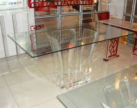 Lucite Dining Room Table by Transparent Acrylic Lucite Glass Dining Table Ct047