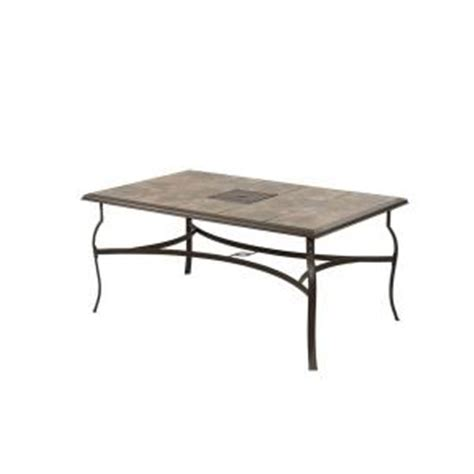 Rectangle Patio Table Hton Bay Belleville Rectangular Patio Dining Table Fts80635 The Home Depot