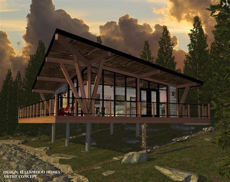 Lakeside Cottage Plans by Ellenwood Homes