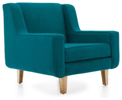 Turquoise Accent Chair West Chair Lucky Turquoise Blue Midcentury Armchairs And Accent Chairs By Joybird Furniture