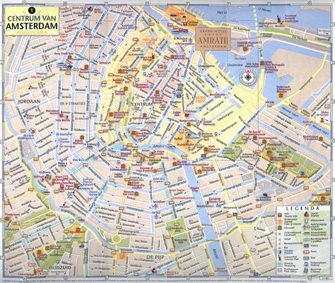map of amsterdam maps of amsterdam detailed map of amsterdam in maps of amsterdam netherlands