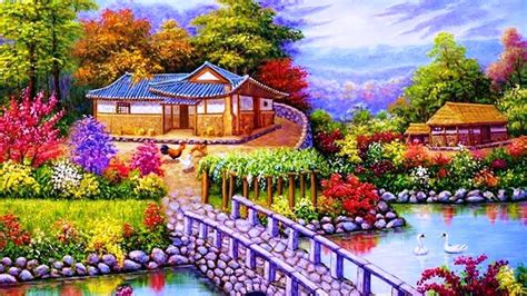 Simple Landscape Ideas House Nature Drawing Lakes Nature Beautiful Lovely Sky