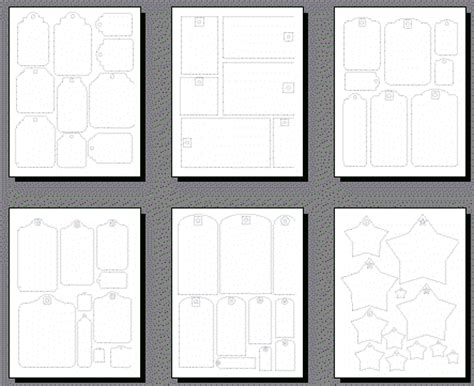 shape templates for scrapbooking scrapbooking tags templates printable shapes clipart