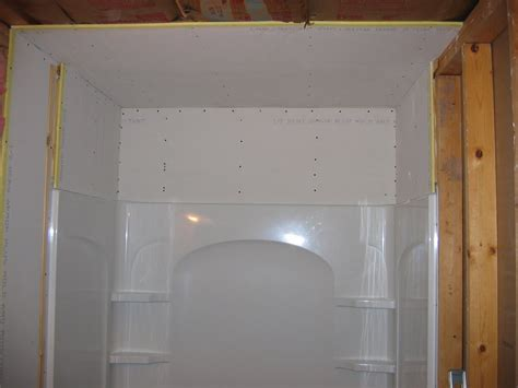 how to install drywall around a bathtub drywall install alcove tub images frompo