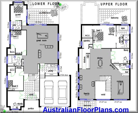 builder floor plans 2 storey home hillside construction floor plans blue prints house plans for sale ebay