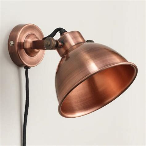 Copper Wall Sconce Copper Ethan Wall Sconce World Market