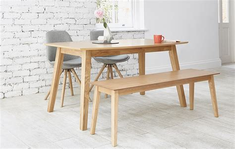 table with 4 chairs and a bench table with four chairs and bench chairs seating