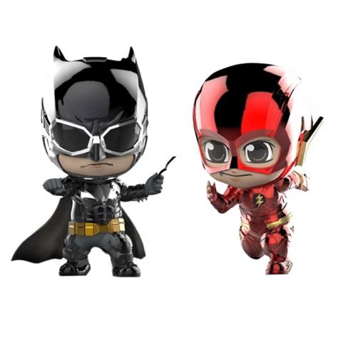 Figure Pvc Toys Cosbaby Batman The Flash Metallic Ver toys justice league batman and flash metallic version cosbaby collectible figure cosbaby