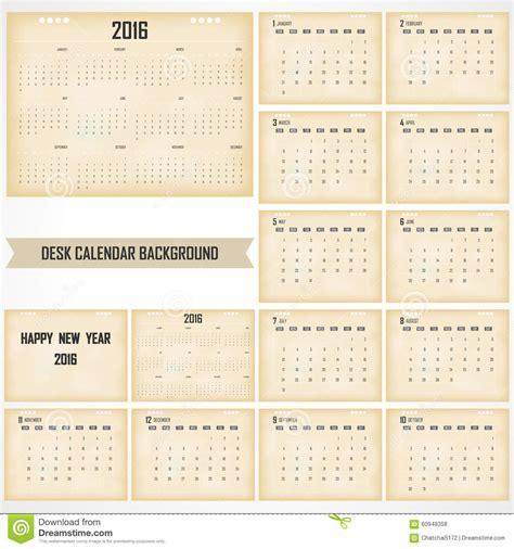 table calendar design vector desk calendar 2016 vector design template set of 12